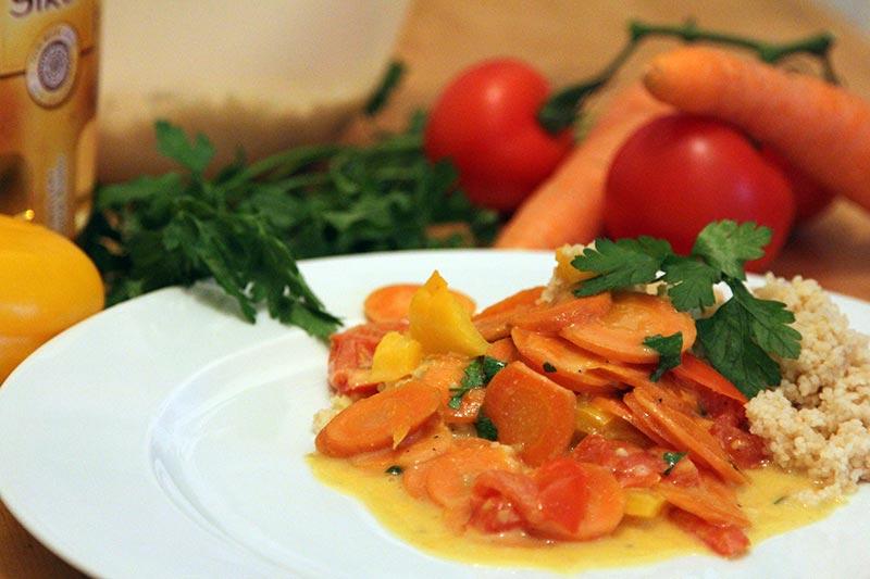 Rezept Couscous Karotten Pfanne vegan