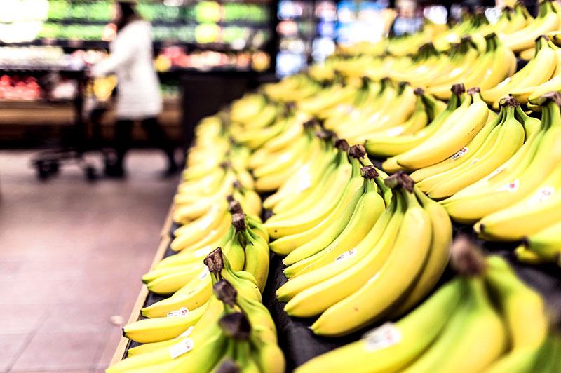 Billig billiger Bananen