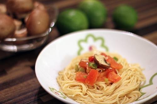 italienische Sommerspaghetti