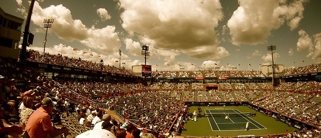 Banane beim Tennis
