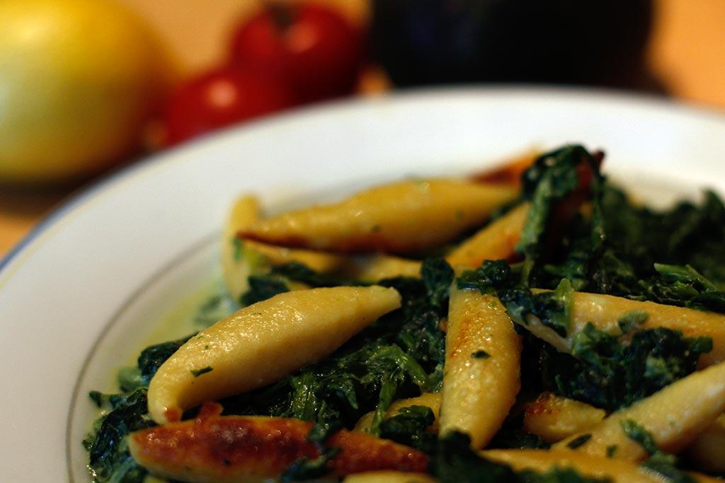 Rezept Schupfnudeln Spinat