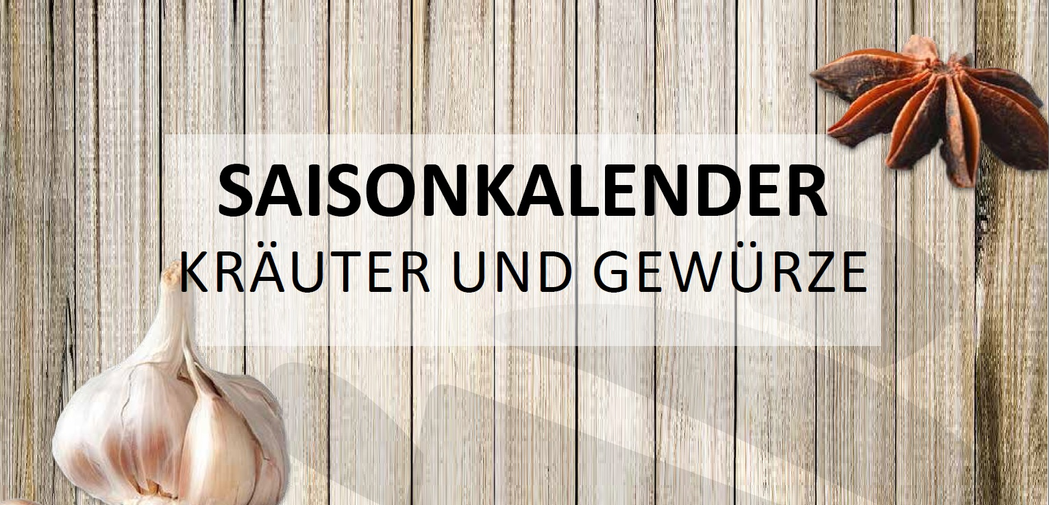 saisonkalender kr uter und gew rze infografik. Black Bedroom Furniture Sets. Home Design Ideas