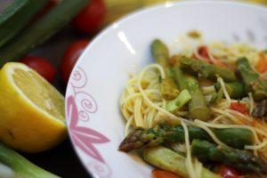 Rezept: Spaghetti mit grünem Spargel