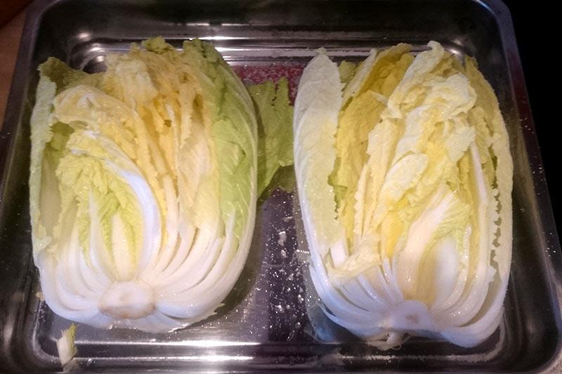 Kimchi Rezept: Chinakohl in Auflaufform