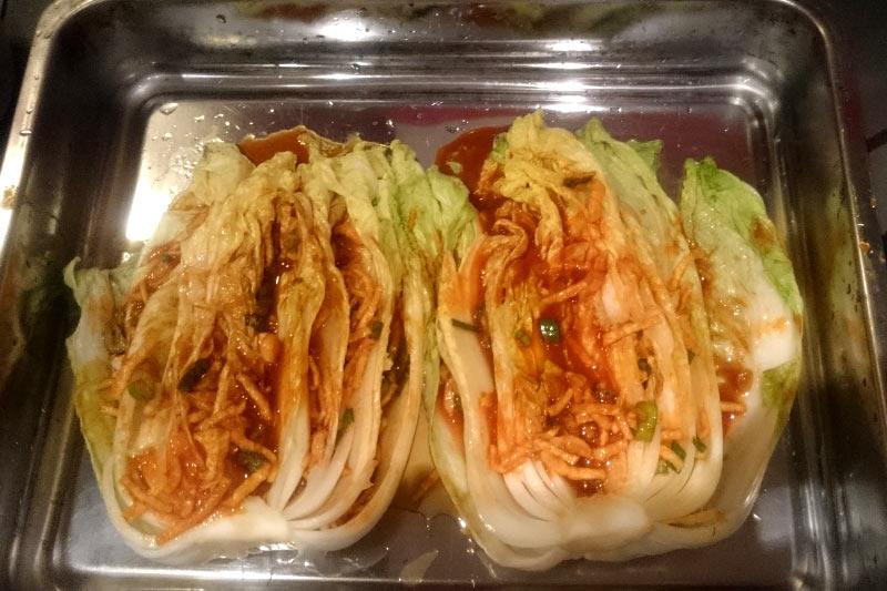 Chinakohl mit Kimchi-Sauce