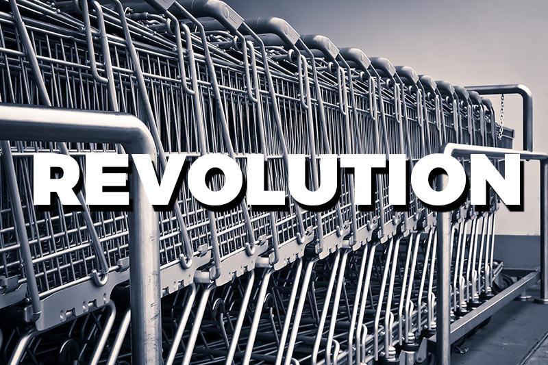Einkaufswagen Supermarkt Revolution