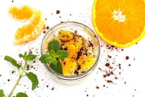 Orange Minze Overnight Oats