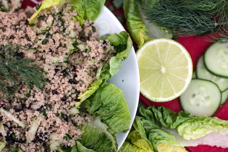 Noriflocken Couscous Salat