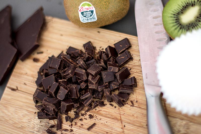 Schoko-Muffin mit Kiwi-Frosting Schokolade Zutaten