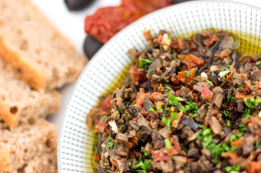 Olivenaufstrich vegan Rezept