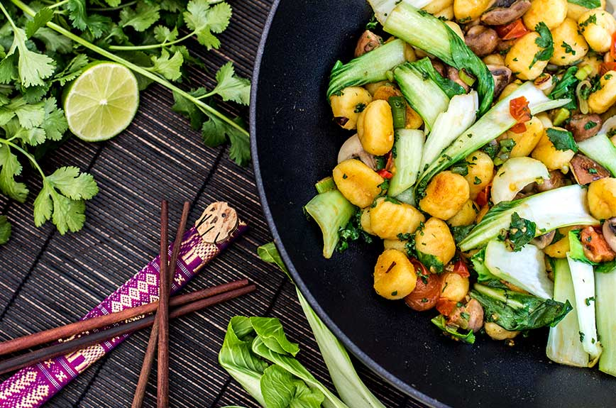 Gnocchi Wok Rezept vegan