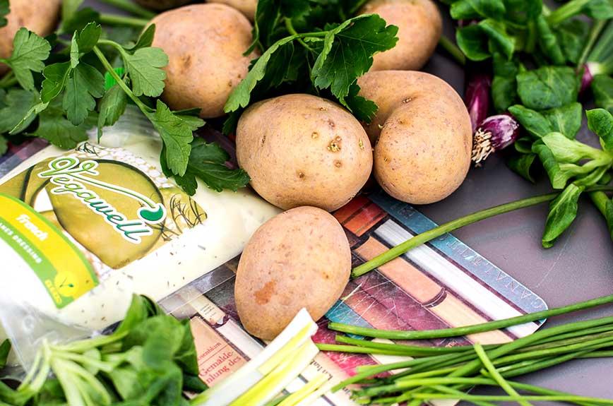 Kartoffelsalat Feldsalat Zutaten
