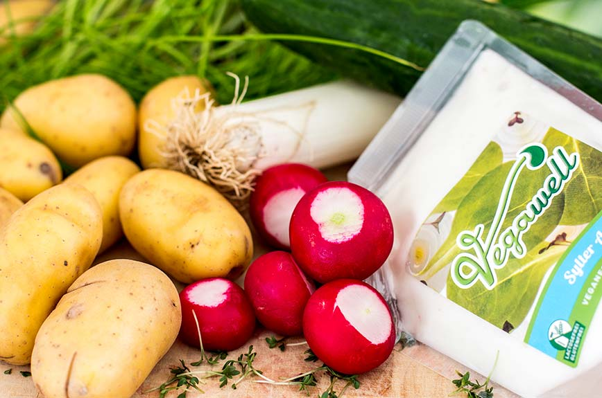 Bratkartoffelsalat vegan Zutaten Rezept