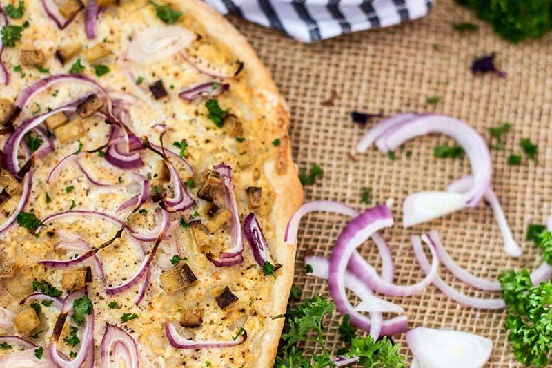 Elsässer Flammkuchen Rezept vegan