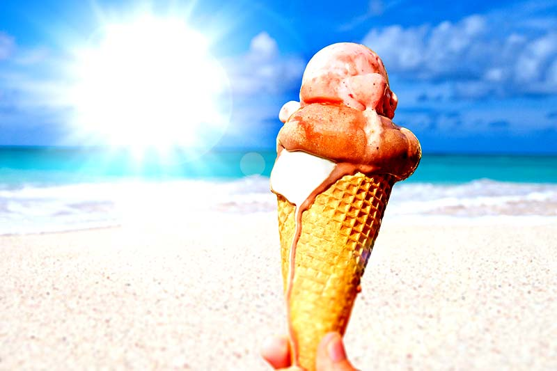Sommer Sonne Eis