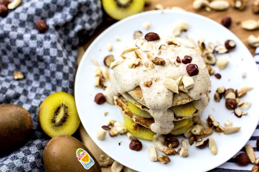 Kiwi Pancake Vollkorn Rezept vegan
