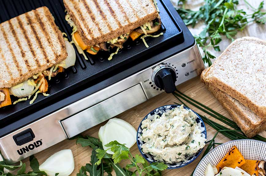 Gegrilltes Gemüse Sandwich