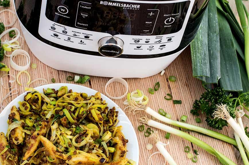 Curry Schupfnudeln Rezept vegan