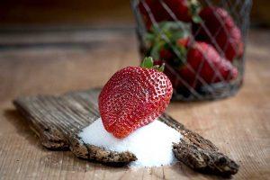 Zucker Kinder Erdbeere