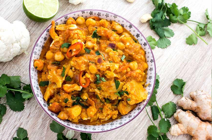 Blumenkohl curry vegan Rezept