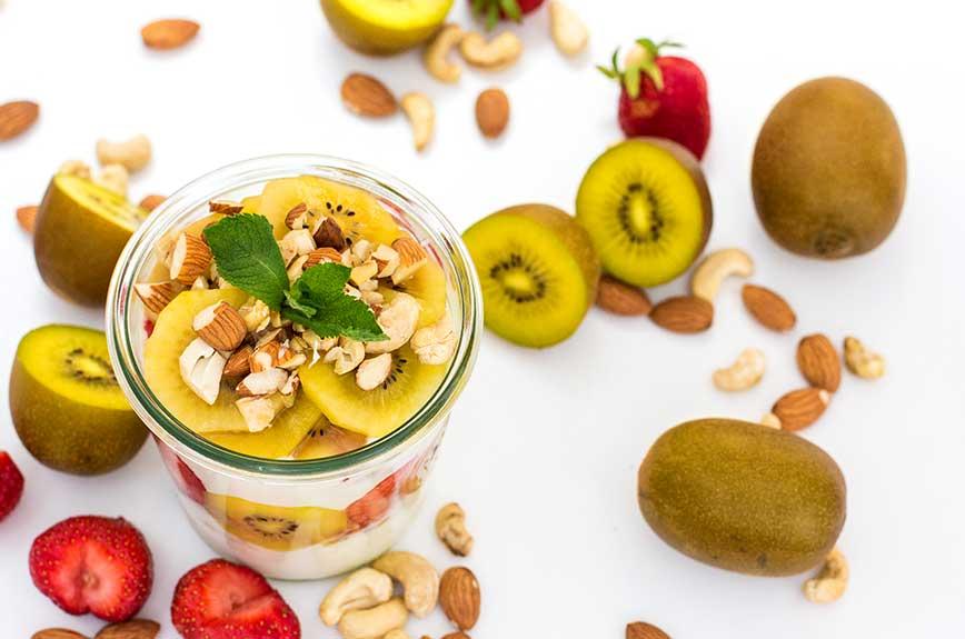 Kiwi Joghurt Rezept vegan