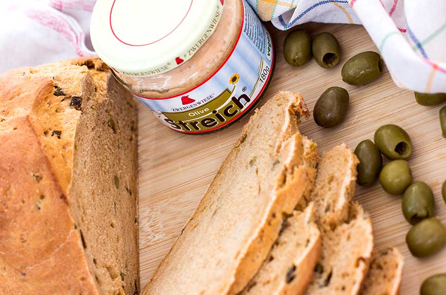 Olivenbrot backen Rezept vegan