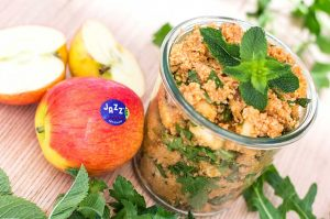 Orientalischer Apfel-Bulgursalat Rezept vegan