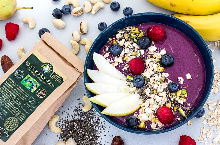 Wildheidelbeer Smoothie Bowl