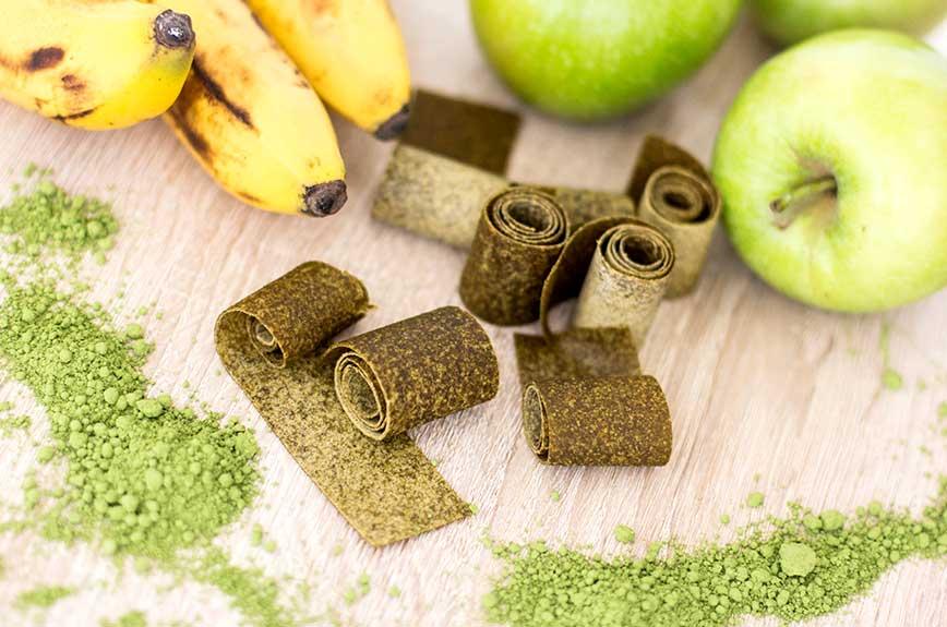 Fruchtleder Apfel Matcha Rezept