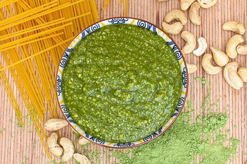 Gerstengras Pesto Rezept vegan
