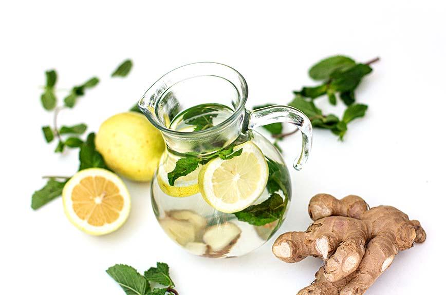 Ingwerwasser gesund Rezept