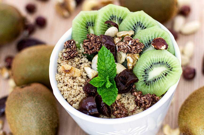 Frühstücks Couscous mit Kiwi Rezept ohne Zucker