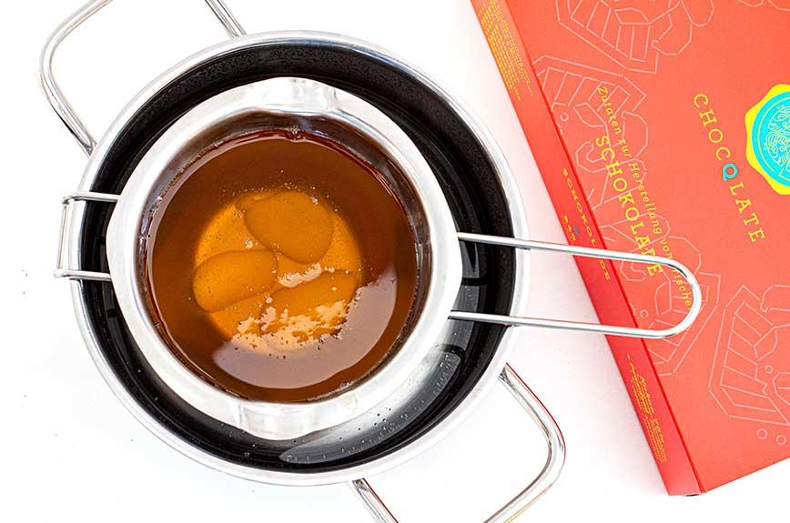 Schokolade selber machen Kakaobutter schmelzen