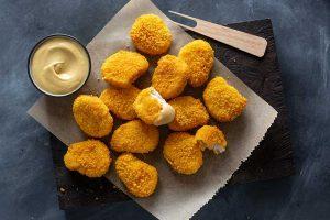 Chicken-Nuggets aus künstlichem Fleisch