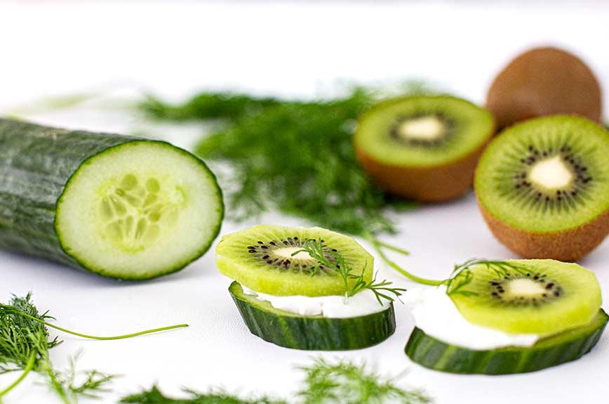 Kiwi Gurken Snack Rezept vegan